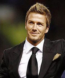 david beckham mens hair icon