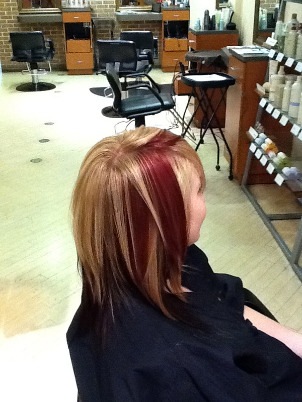 Red and blonde dimensional color