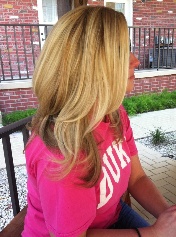 Lond blonde layers